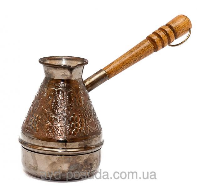 Турка медная с темной ручкой Пятигорск Станица 300 мл Код товара 00429