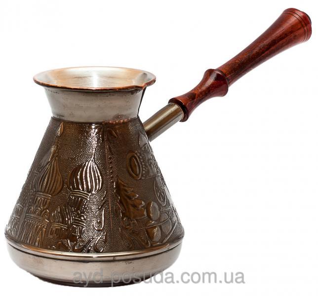 Турка медная с темной ручкой Пятигорск Станица 750 мл Код товара 00431