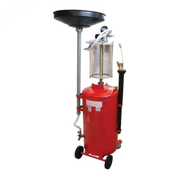 Установка вакуумная для слива масла с предкамерой и воронкой, 90 л INTERTOOL GT2100