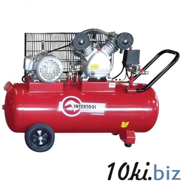 Компрессор 100 л, 4 HP, 3 кВт, 380 В, 8 атм, 500 л/мин, 2 цилиндра INTERTOOL PT-0013 Воздушные компрессоры бытовые в Украине