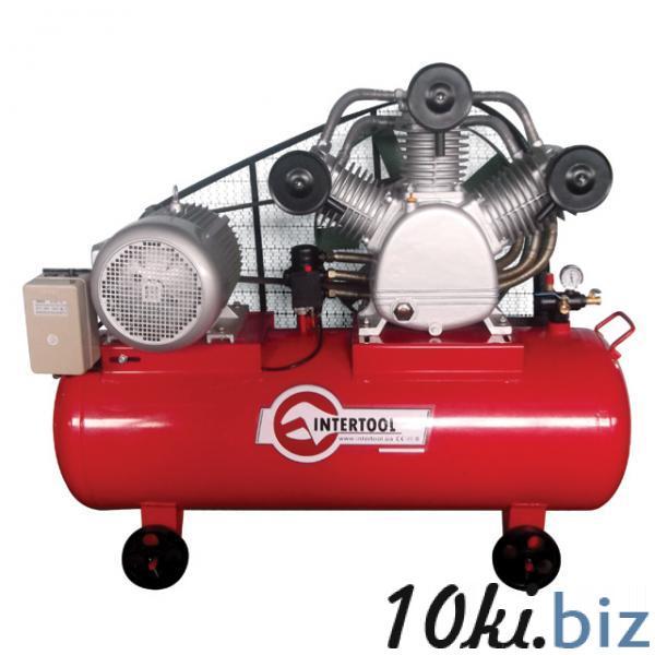 Компрессор 300 л, 20 HP, 15 кВт, 380 В, 8 атм, 2000 л/мин. 3 цилиндра INTERTOOL PT-0052 Воздушные компрессоры бытовые в Украине