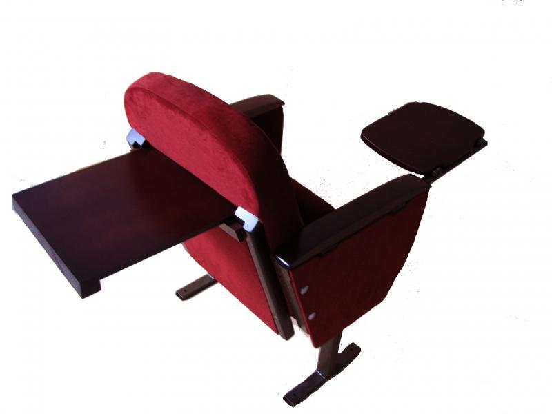Кресла М1 с двумя пюпитрами в актовый, конференц-зал полумягкие под заказ от белорусского производителя. Цена