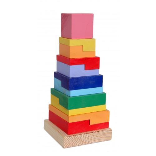 Пирамида деревянная квадрат Руди Д007у