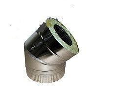 Колено 45˚ для дымохода из нержавеющей стали с термоизоляцией (нерж/нерж) d 100/160