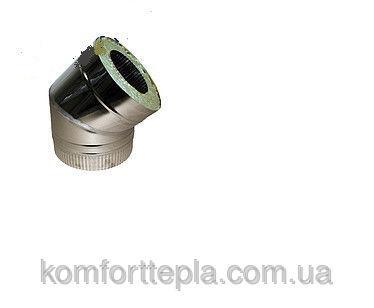 Колено 45˚ для дымохода из нержавеющей стали с термоизоляцией (нерж/нерж) d 180/250
