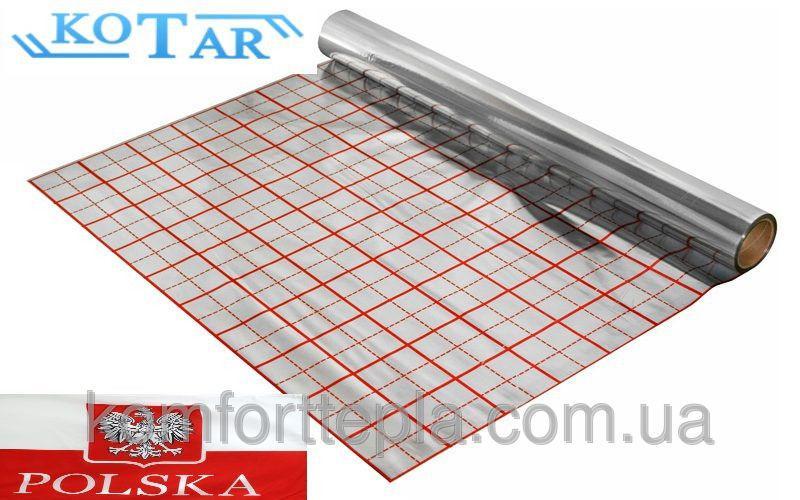 Пленка для теплого пола фольгированная IZOFOLIX (KOTAR). 50 м²