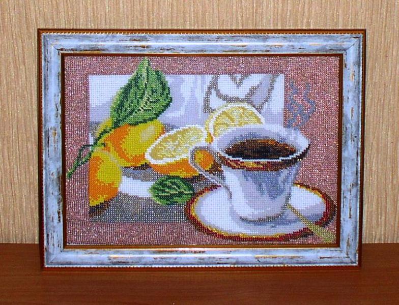 "Картина бисером ""Утренний кофе"" *4516"
