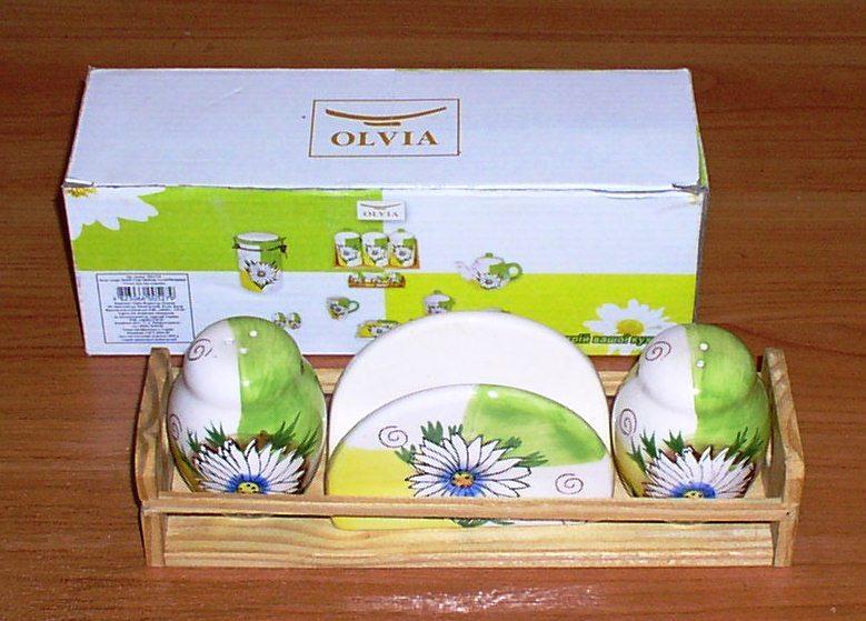 "Набор для специй и салфеток ""Olvia""  *4541"