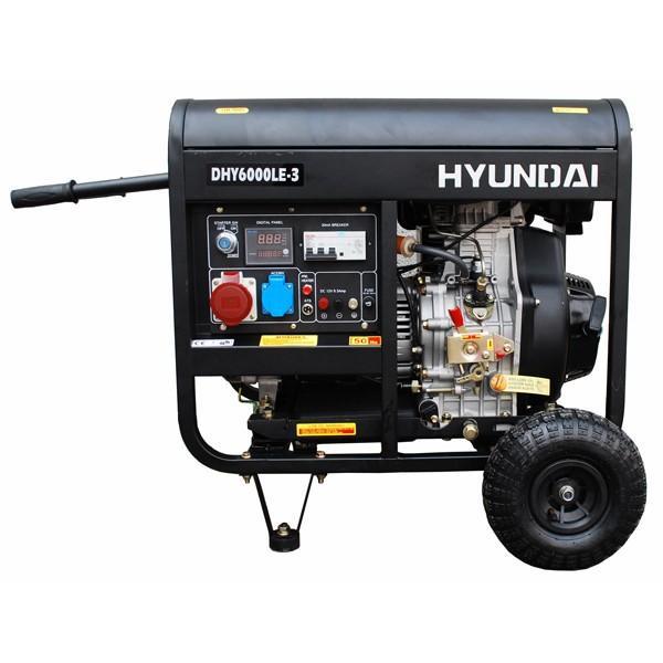 Генератор дизельный трехфазный Hyundai DHY6000LE-3