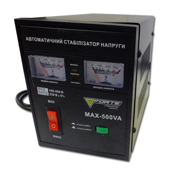 Стабилизатор напряжения Forte MAX-500VA NEW (Релейный)