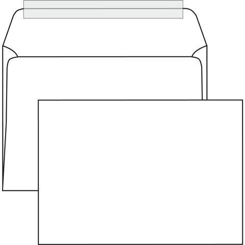Конверт почт. оф. С4 229х324 декстрин 90 г/м2 белый плоск. евробумага 100% белизна