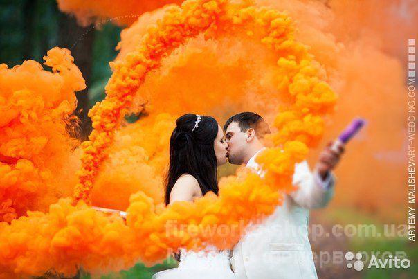Фото Цветные дымы МА 0509 ОРАНЖЕВЫЙ дым
