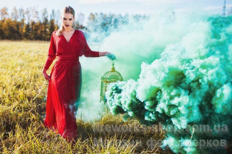 Фото Цветные дымы Дым MA0512mix/ЗЕЛЕНЫЙ