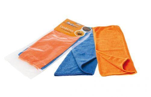 Набор салфеток из микрофибры 2 шт (синяя+оранж) 30х30 см AB-V-01