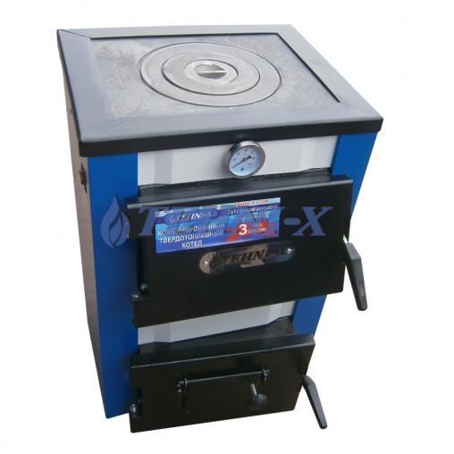 Teehni-x КОТВ-10-П-эконом твердотопливный котёл +варочная плита с чугунными колосниками мощность 10квт