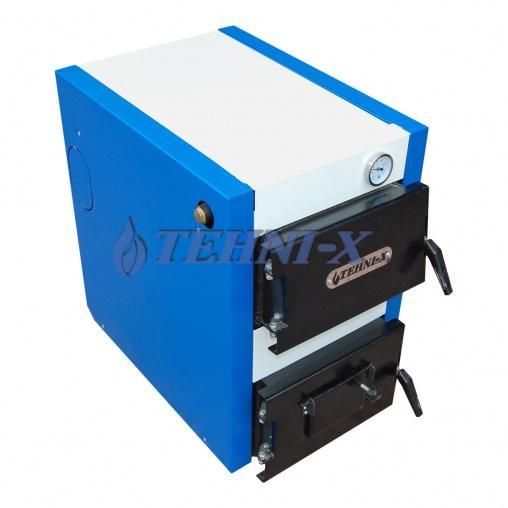 Tehni-x KOTВ-22-У премиумкотёл электро-твердотопливный комбинированный с охлаждаемыми колосниками 22 кВт 2в1 увеличенная топка