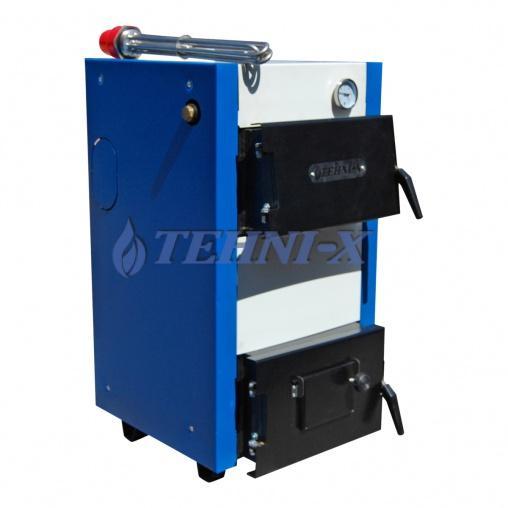 Tehni-x KOTВ-15-У премиумкотёл электро-твердотопливный комбинированный 15 кВт 2в1с комплектом электрооборудования