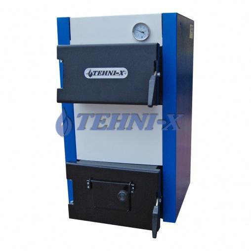 Tehni-x KOTВ-15-У премиум котёл электро-твердотопливный комбинированный охлаждаемые колосники 15 кВт 2в1, возможна установка чугунных колосников