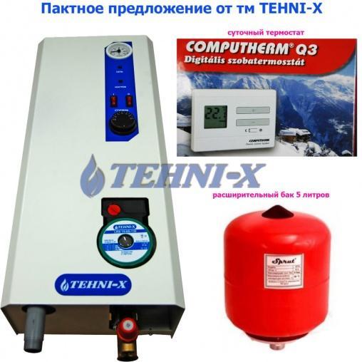 tehni-x кэт 12 Премиум электрический котел 3 ступени мощности с универсальным подключением