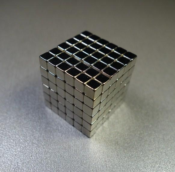 Тетракуб (Неокуб из кубиков) 5 мм никель