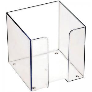 Бокс для бумажного блока 9х9х9 мм, прозрачный