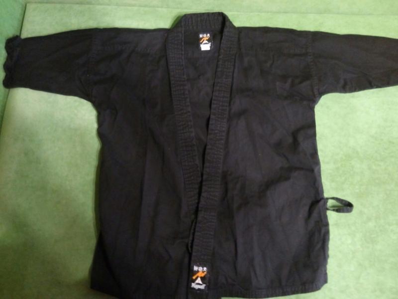 Куртка кимоно черная 140-150