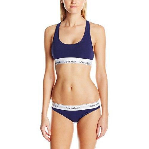 комплект Calvin Klein женский синего цвета, трусики + топ