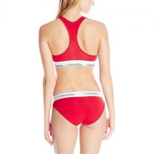 Фото Комплект женский Calvin Klein трусики плюс топ комплект Calvin Klein женский красного цвета, трусики + топ