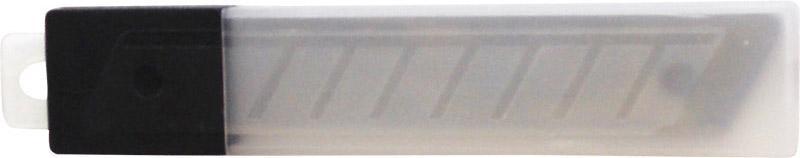 Фото Канцелярские товары (ЦЕНЫ БЕЗ НДС), Ножницы, ножи, лезвия, резаки Лезвия для канцелярских ножей 18 мм, 10 шт в пластиковом пенале