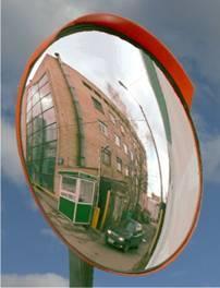 Фото Зеркала обзорные сферические и купольные Дорожное сферическое зеркало D 800 мм