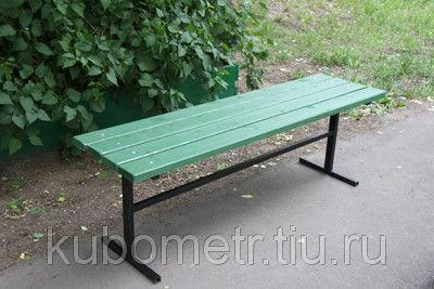 Скамейка уличная без спинки 1,5м