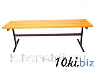 Скамейка садовая деревянная без спинки купить в Ульяновске - Садовые и парковые скамейки с ценами и фото