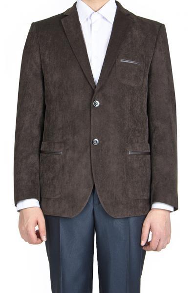 Пиджак вельветовый, коричневый