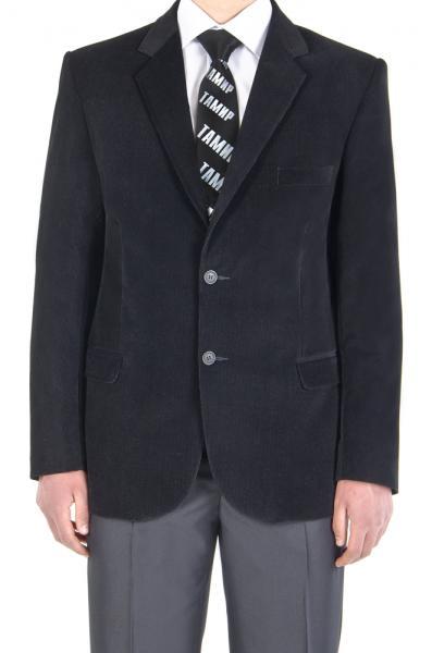 Пиджак велюровый, чёрный