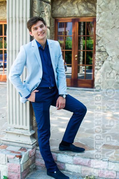 Пиджак светло-голубой - Мужские классические костюмы, смокинги на рынке Барабашова