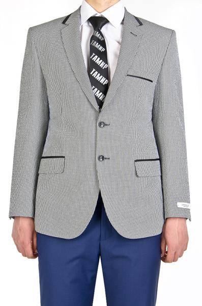 Пиджак светло-серый в клетку