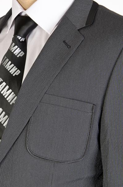 Фото Пиджаки Пиджак серый в полоску