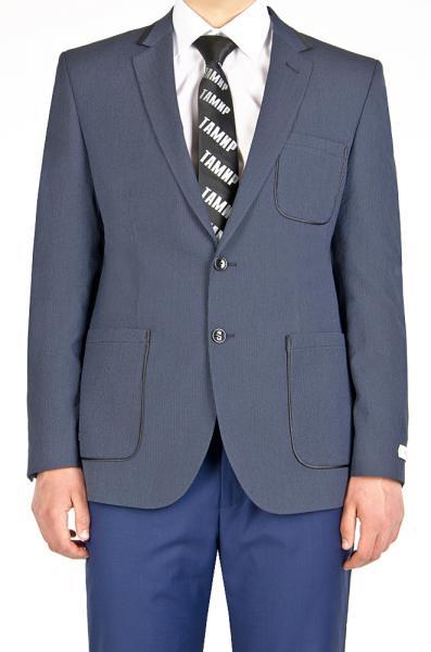 Пиджак синий в полоску