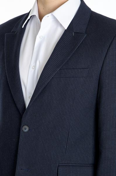 Фото Пиджаки Пиджак темно-синий  шерстяной