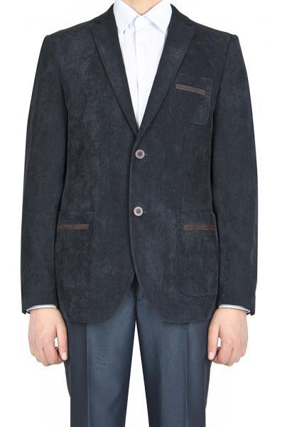 Пиджак чёрный, вельветовый
