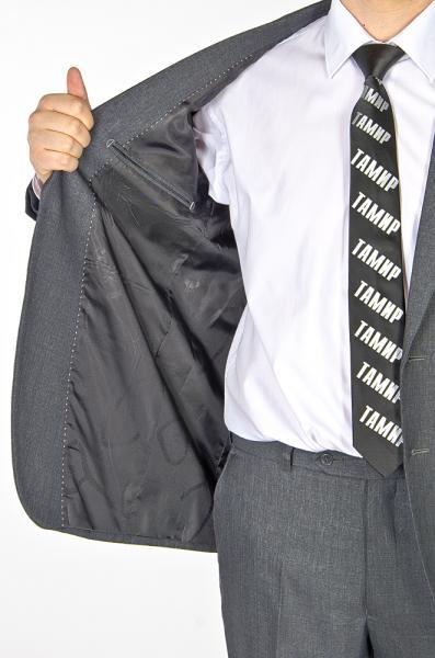 Фото Костюмы Костю темно-серый с узором классический