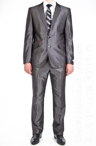 Костюм  серый с лоском - Мужские классические костюмы, смокинги на рынке Барабашова