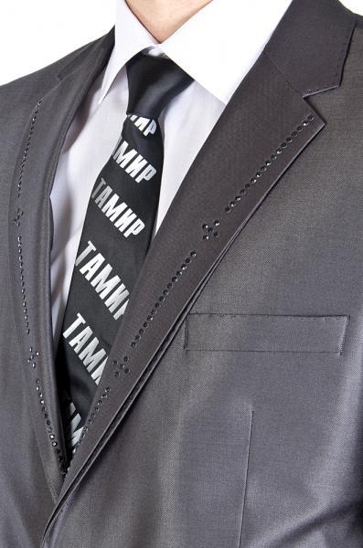 Фото Костюмы Костюм  серый с лоском