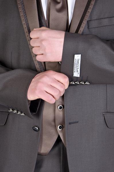 Фото Костюмы Костюм матовый, коричневый