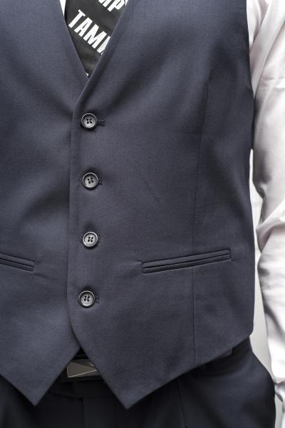 Фото Костюмы Костюм мужской серо-синего цвета.