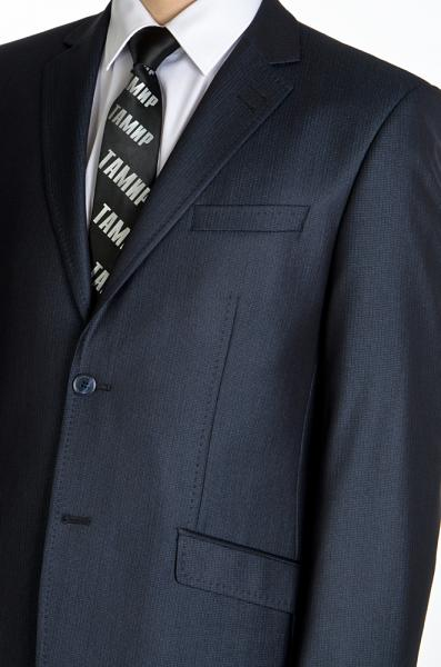 Фото Костюмы Костюм мужской, темно-синий, с блеском.