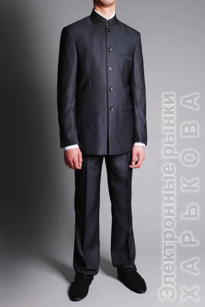 Костюм с воротником стойка - Мужские классические костюмы, смокинги на рынке Барабашова