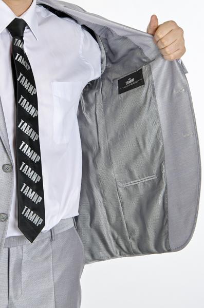 Фото Костюмы Костюм с холодным оттенком серого цвета