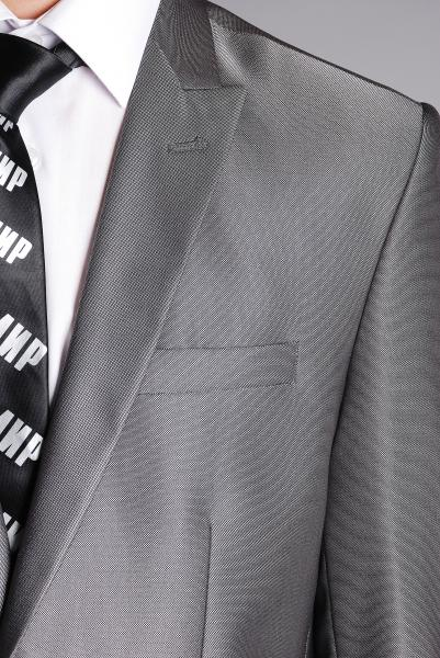 Фото Костюмы Костюм стальной однотонный с блеском