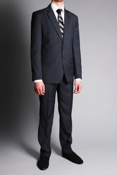 Фото Костюмы костюм тёмно-серый классический